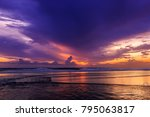 magic dramatic unreal  sunset... | Shutterstock . vector #795063817