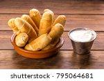 typical venezuelan snack with... | Shutterstock . vector #795064681