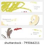 hand drawn creative universal... | Shutterstock .eps vector #795066211