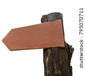close up empty wooden signpost... | Shutterstock . vector #795070711