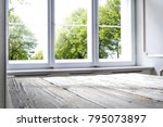 window of spring time and... | Shutterstock . vector #795073897