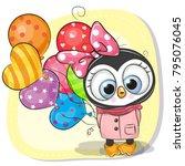greeting card cute cartoon...   Shutterstock .eps vector #795076045