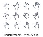 gesture icons for mobile... | Shutterstock .eps vector #795077545
