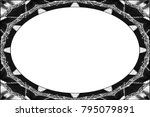 horizontal frame of black and... | Shutterstock . vector #795079891