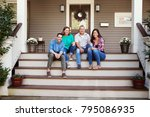 parents with adult offspring...   Shutterstock . vector #795086935