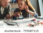 we work together on a school... | Shutterstock . vector #795087115