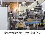 industry 4.0 robot concept .the ... | Shutterstock . vector #795088159