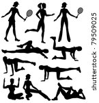 silhouettes of athletes... | Shutterstock .eps vector #79509025