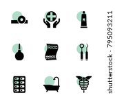 care icons. vector collection... | Shutterstock .eps vector #795093211