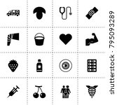 health icons. vector collection ...