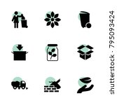 environment icons. vector...