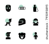 face icons. vector collection... | Shutterstock .eps vector #795093895