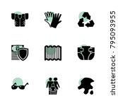 protection icons. vector...