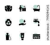 hygiene icons. vector...