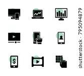screen icons. vector collection ...
