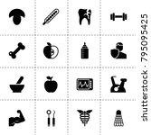 healthy icons. vector... | Shutterstock .eps vector #795095425