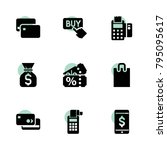 buy icons. vector collection... | Shutterstock .eps vector #795095617