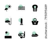 ocean icons. vector collection...