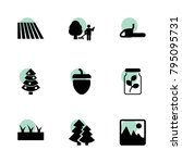 tree icons. vector collection...