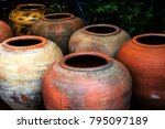 old clay pots | Shutterstock . vector #795097189