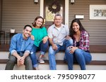 parents with adult offspring... | Shutterstock . vector #795098077