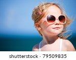 portrait of cute little girl on ... | Shutterstock . vector #79509835
