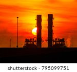petrochemical factory in the... | Shutterstock . vector #795099751