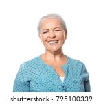 portrait of laughing mature... | Shutterstock . vector #795100339