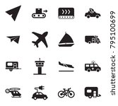 solid black vector icon set  ... | Shutterstock .eps vector #795100699