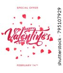 valentines day. poster for... | Shutterstock .eps vector #795107929