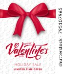 valentines day. poster for... | Shutterstock .eps vector #795107965