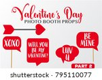 set of valentine's day... | Shutterstock .eps vector #795110077