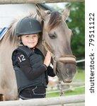 horse and jockey   little girl... | Shutterstock . vector #79511122