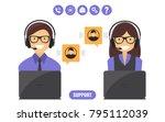 customer support service... | Shutterstock .eps vector #795112039