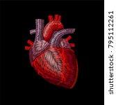 embroidery crewel human... | Shutterstock .eps vector #795112261