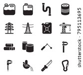 solid black vector icon set  ... | Shutterstock .eps vector #795113695
