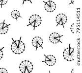 ferris wheel seamless pattern... | Shutterstock .eps vector #795114511
