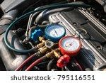 a c manifold gauges set  check... | Shutterstock . vector #795116551