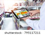 heatmap analytic in smart... | Shutterstock . vector #795117211