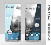 business roll up design... | Shutterstock .eps vector #795117829