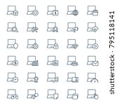 set of computer icons. vector... | Shutterstock .eps vector #795118141