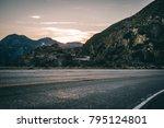 highway in the los angeles... | Shutterstock . vector #795124801