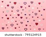 valentine's day background. red ... | Shutterstock . vector #795124915