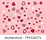 valentine's day background. red ... | Shutterstock . vector #795126271