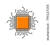 cpu microprocessor illustration....   Shutterstock .eps vector #795127255
