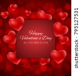valentine's day heart  love and ... | Shutterstock .eps vector #795127531