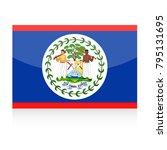 belize flag vector icon  ... | Shutterstock .eps vector #795131695