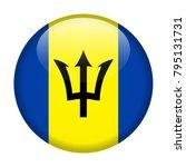 barbados flag vector round icon ... | Shutterstock .eps vector #795131731