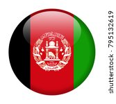 afghanistan flag vector round... | Shutterstock .eps vector #795132619