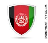 afghanistan flag vector shield... | Shutterstock .eps vector #795132625